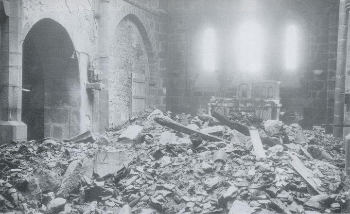 <i>Interior of the church</i>