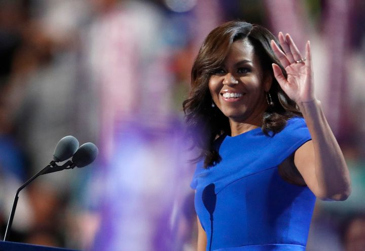 First Lady Michelle Obama at the 2016 Democratic National Convention.