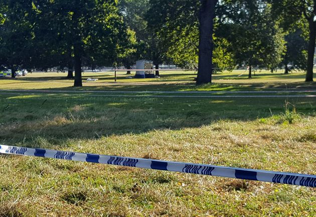 Officers cordoned off part of Hyde Park after a body was found near Speakers'