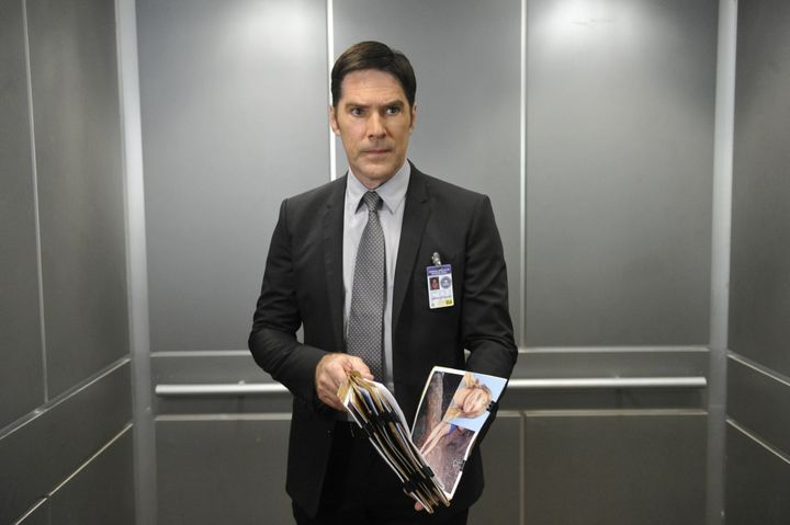 "Thomas Gibson, shown as his ""Criminal Minds"" character Aaron Hotchner, says, ""There were creative differences on the set"