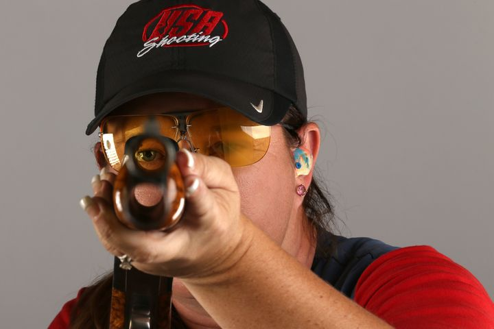 """Kim Rhode says the Second Amendment was """"put in so we could defend our First Amendment, the freedom of speech, and also to de"""