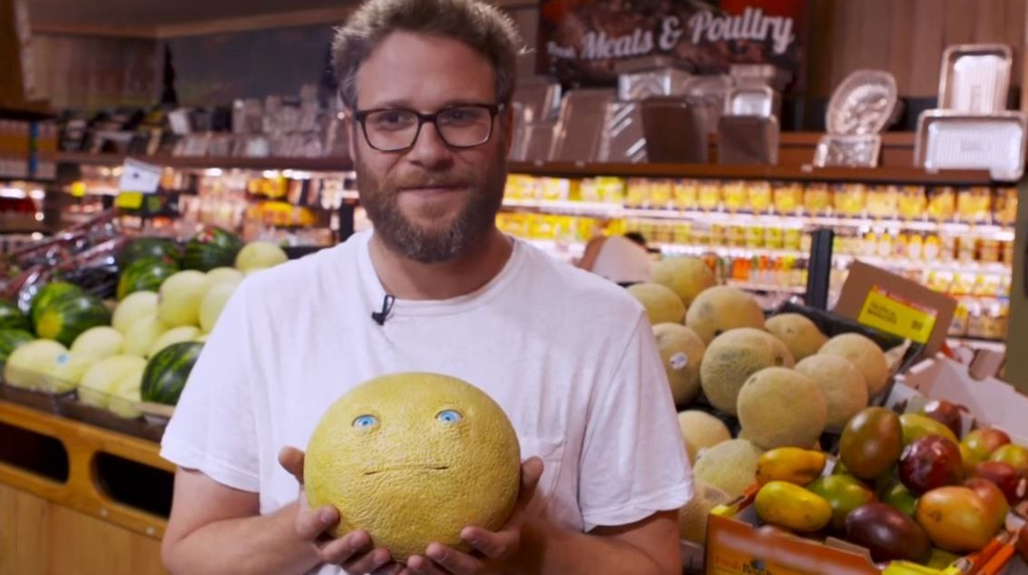 Seth Rogen Pranked Some Shoppers With Hilarious NSFW Talking Food In A