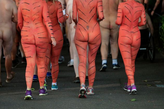 Tiger fans took part in a 300m nude streak through London Zoo on
