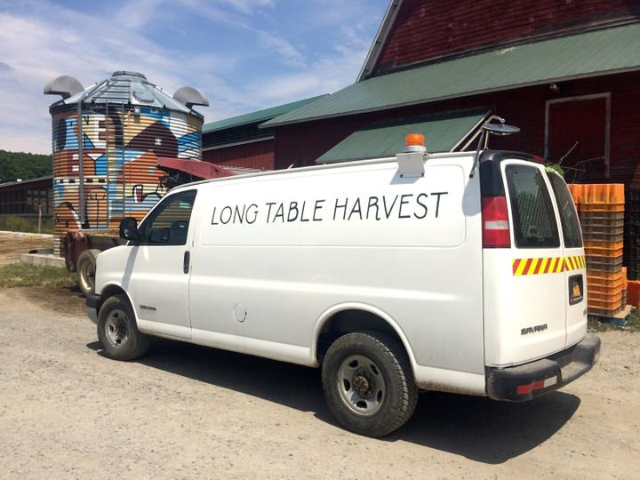 Long Table Harvest's van gets filled many times over during the busy summer months when bumper crops and other factors can le