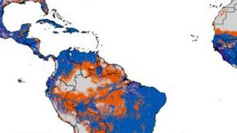 This map estimates the risk of local Zika virus spread around the world.