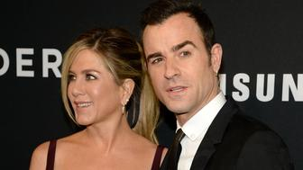 NEW YORK, NY - FEBRUARY 09:  Actors Jennifer Aniston (L) and Justin Theroux attend the 'Zoolander 2' World Premiere  at Alice Tully Hall on February 9, 2016 in New York City.  (Photo by Kevin Mazur/Getty Images)
