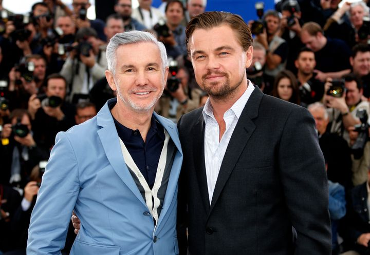 "Director Baz Luhrmann (L) and Leonardo DiCaprio pose during a photocall for ""The Great Gatsby"" before the opening of the 66th"