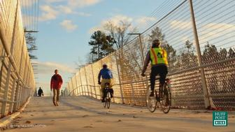 Riders enjoy the East Coast Greenway trail.