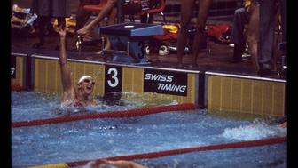ABC SPORTS - 1976 SUMMER OLYMPICS - Swimming Events - The 1976 Summer Olympic Games aired on the ABC Television Network from July 17 to August 1, 1976. Shoot Date: July 24, 1976. (Photo by ABC Photo Archives/ABC via Getty Images) SHIRLEY BABASHOFF, WOMEN'S 4X100M FREESTYLE MEDLEY