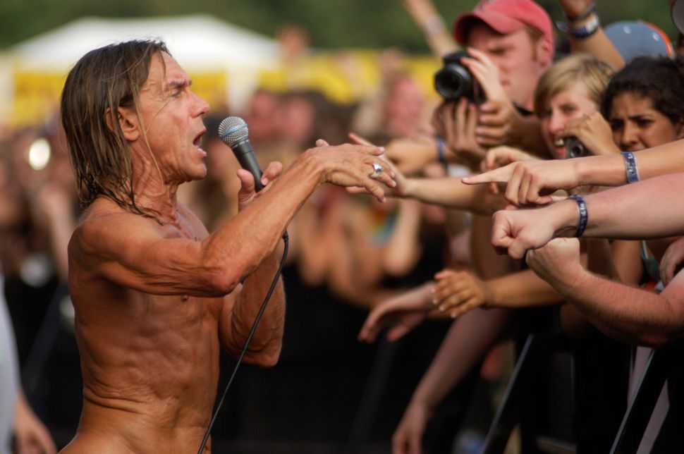 Iggy Pop of Iggy and the Stooges performs at Lollapalooza 2007 in Grant Park in Chicago.