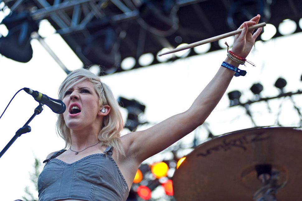 Ellie Goulding performs during 2011 Lollapalooza at Grant Park in Chicago.