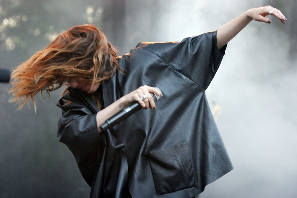 Lykke Li performs onstage during 2011 Lollapalooza at Grant Park in Chicago, Illinois.