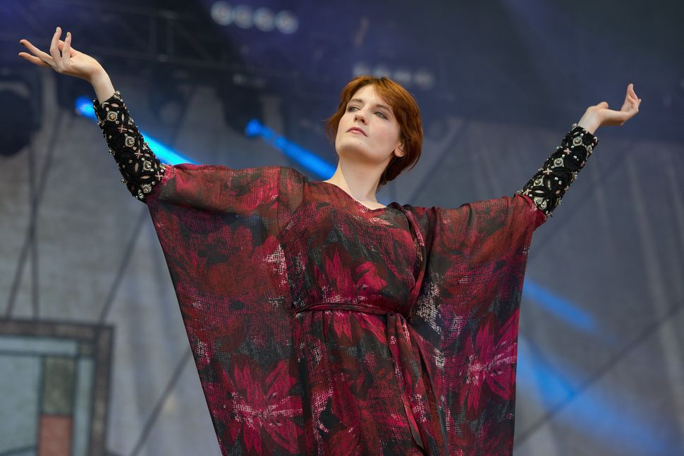 Florence Welch of Florence and the Machine performs on stage during day three of Lollapalooza at Grant Park on August 5, 2012
