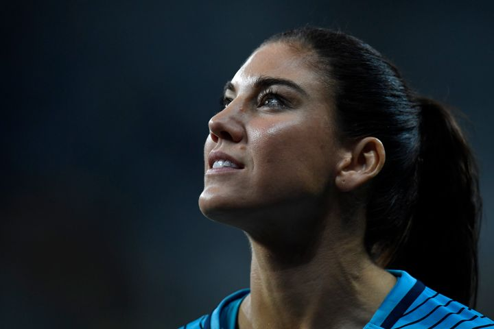 """U.S. goalie Hope Solo said Sweden's national team """"didn't want to play great soccer"""" against the American team."""