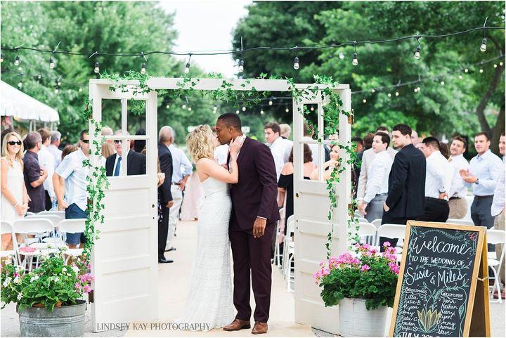 Susie and Miles Osei on their wedding day.