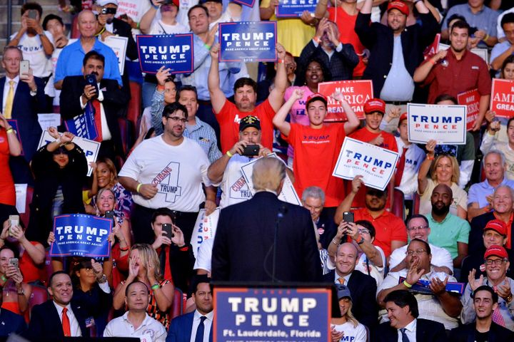 Trump at a campaign rally.
