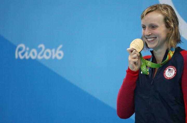 Katie Ledecky: star swimmer and gold prospector.