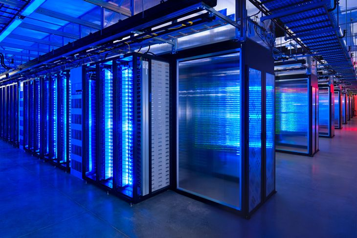 Billions of dollars are spent every year on server facilities like Facebook's pictured above. Much of the data stored on serv