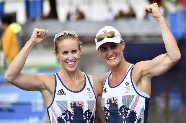 Helen Glover (L) and Heather Stanning retained their Olympic