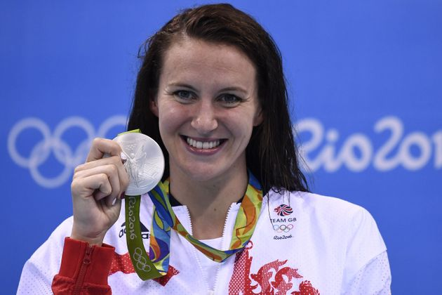 Jazz Carlin with her second Olympic medal of the