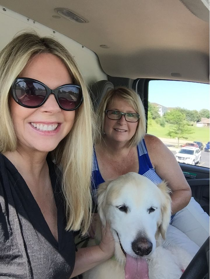 My friend Gail and me (and company) in the U-Haul