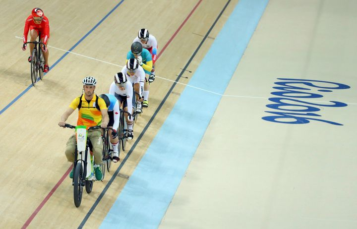Ivo Siebert is responsible for setting the pace for the track cycling keirin event at Rio 2016.