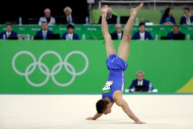 Whitlock's routine included a diagonal tumble, two landings and a superb