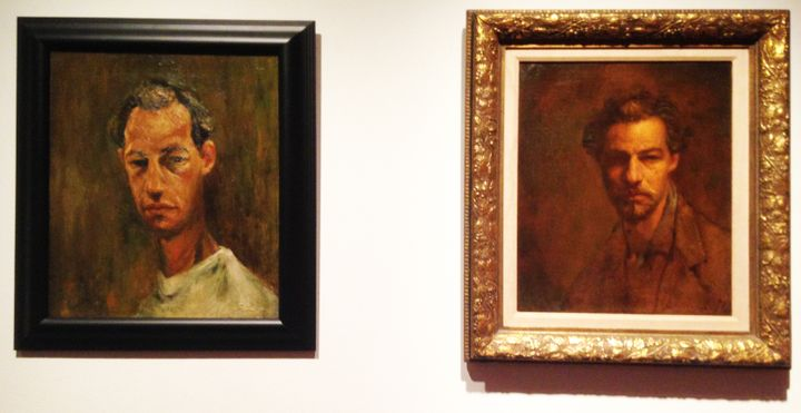 Two Self-Portraits by David Leffel, from 1958 (left) and 1959 (right)