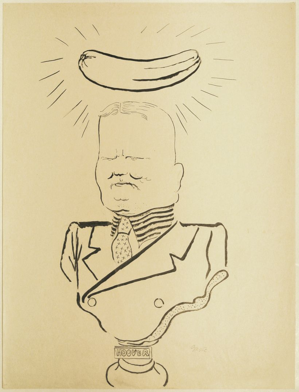 "<i>Hoover</i> &copy; Estate of George Grosz<br>Courtesy <a href=""http://www.sidebysidegallery.com"" target=""_blank"">Akim Monet"