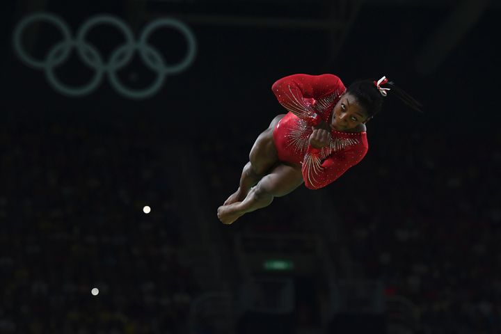 U.S. gymnast Simone Biles competes in the women's vault event final at the Rio 2016 Olympic Games on August 14, 2016.