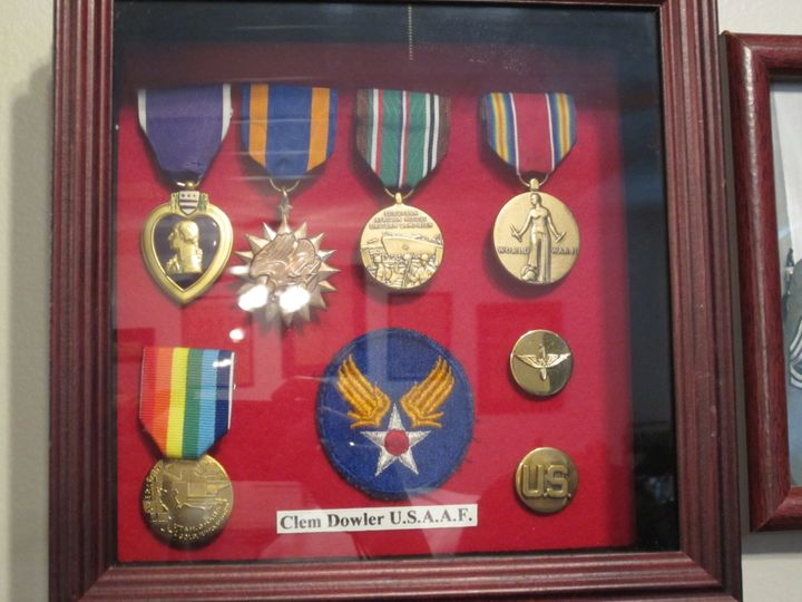 <i>Clem's medals displayed in the&nbsp;Veterans Museum of Mid-Ohio Valley in Parkersburg, West Virginia</i>