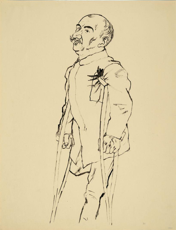 """<i>War Cripple</i> &copy; Estate of George Grosz<br>Courtesy <a href=""""http://www.sidebysidegallery.com"""" target=""""_blank"""">Akim"""