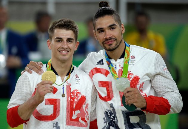 Max Whitlock and Louis Smith took gold and silver in the men's pommel horse