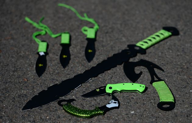 Zombie knives can be sold online for as little as