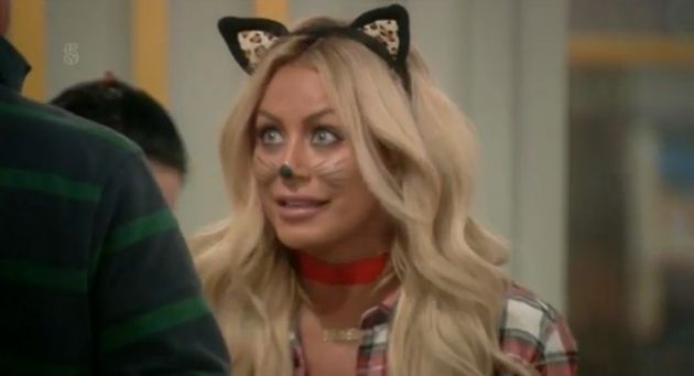 Unfortunately for her, she was dressed as a cat at the