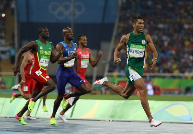 Van Niekerk winning gold in the 400