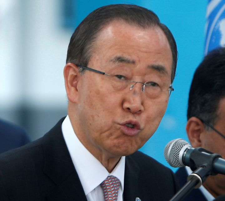 """Secretary-General Ban Ki-moon condemned the attack on the school and urged parties""""to prevent further violations of int"""