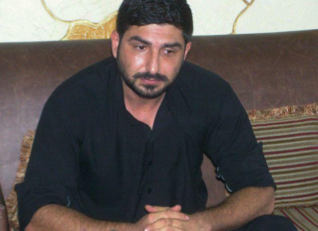 Shahid's second husbandSyed Mukhtar Kazam at a press conference in Rawalpindi, calling for UK and...