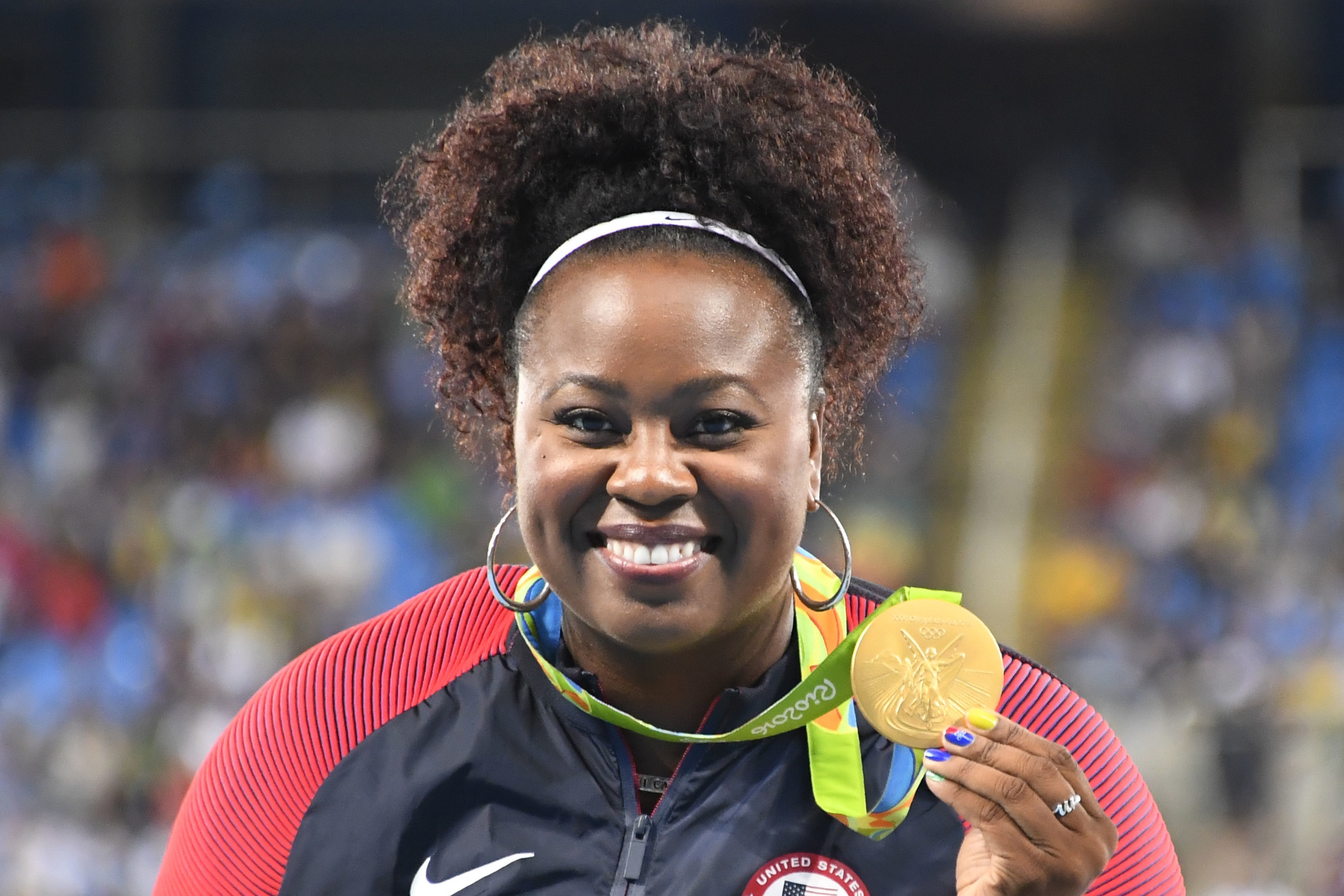 Michelle Carter won the gold medal in the Women's shot put on August 12.