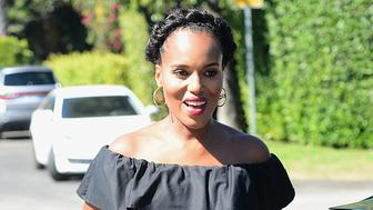 Pregnant Kerry Washington Goes To an Instyle Magazine Gifting Party<P>Pictured: Kerry Washington<B>Ref: SPL1335013  140816  </B><BR/>Picture by: Splash News<BR/></P><P><B>Splash News and Pictures</B><BR/>Los Angeles:310-821-2666<BR/>New York:212-619-2666<BR/>London:870-934-2666<BR/>photodesk@splashnews.com<BR/></P>