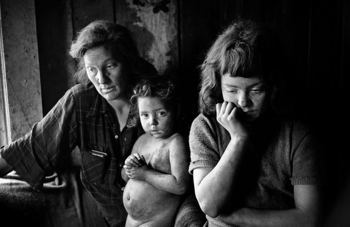 A coal mining family in Hazard, Kentucky. (Jim Marshall, 1963.)