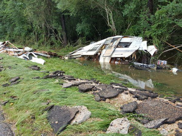 Damage is seen in Amite, Louisiana.
