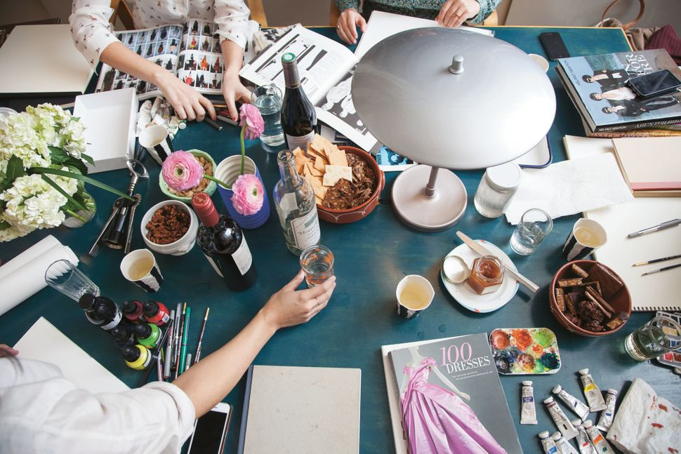 <i>Ladies Drawing Night: Make Art, Get Inspired, Join the Party </i>by Julia Rothman, Leah Goren and Rachael Cole, published
