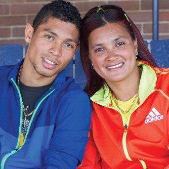 Odessa Swarts and her son, gold medalist Wayde van Niekerk.