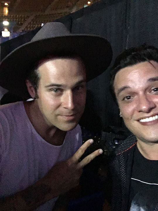 Myself (<strong>Kyle McMahon</strong>) and <strong>Ryan Cabrera</strong> at the afterparty of Mixtape Festival 2016. Hair sho