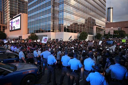 #BlackLivesMatter protesters take to the streets of downtown Atlanta.