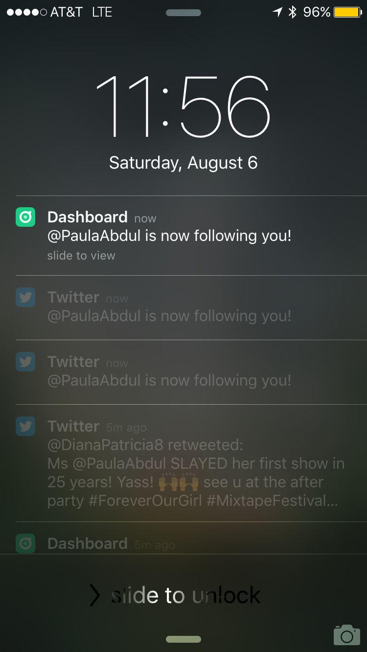 "Paula Abdul followed me on Twitter and stuff. We'll 'prolly get married one day. <a href=""https://twitter.com/paulaabdul"" tar"