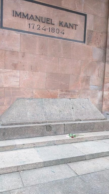 The tomb of the philosopher Immanuel Kant lies beside the cathedral.