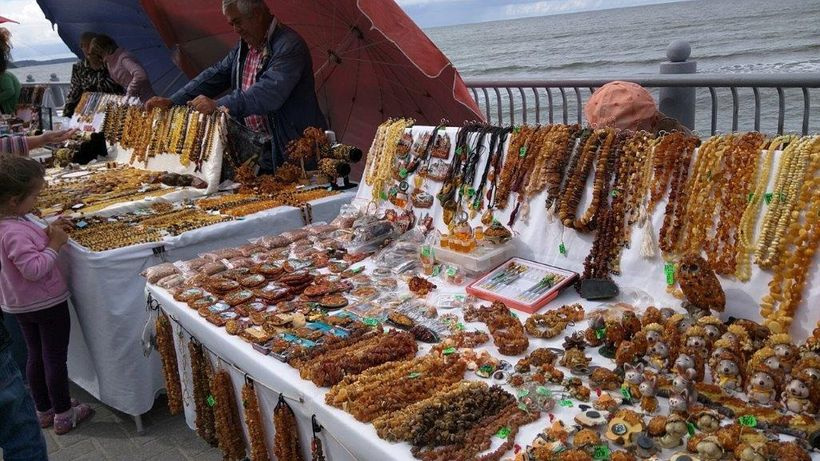 Vendors all over the region sell amber jewelry and souvenirs.