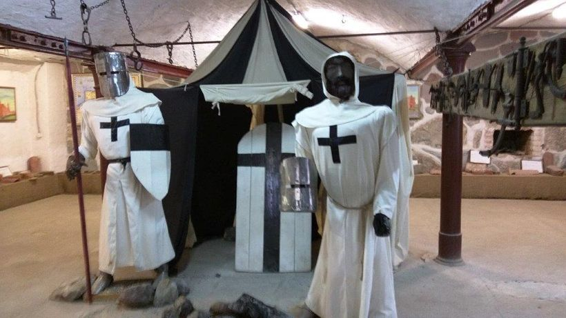 Exhibits in the Yantarny museum document the  medieval Teutonic knights